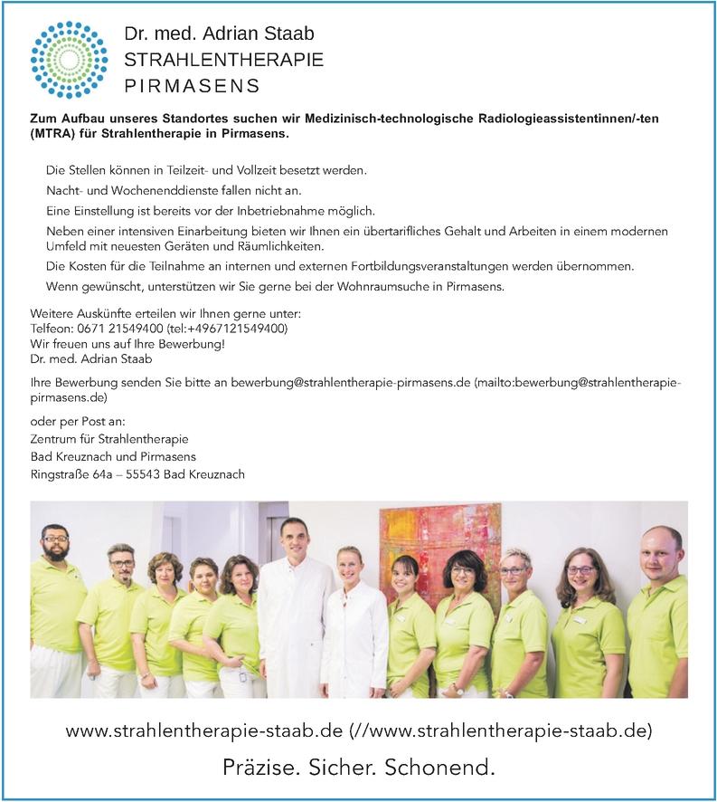 Medizinisch-technologische Radiologieassistentinnen/-ten (MTRA)