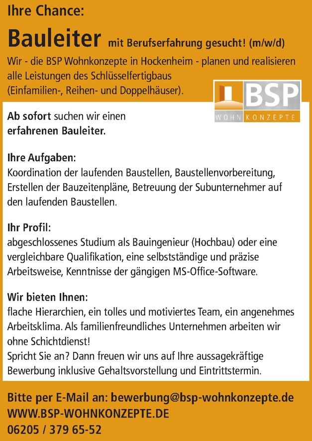 Bautechniker Hochbau m/w/d