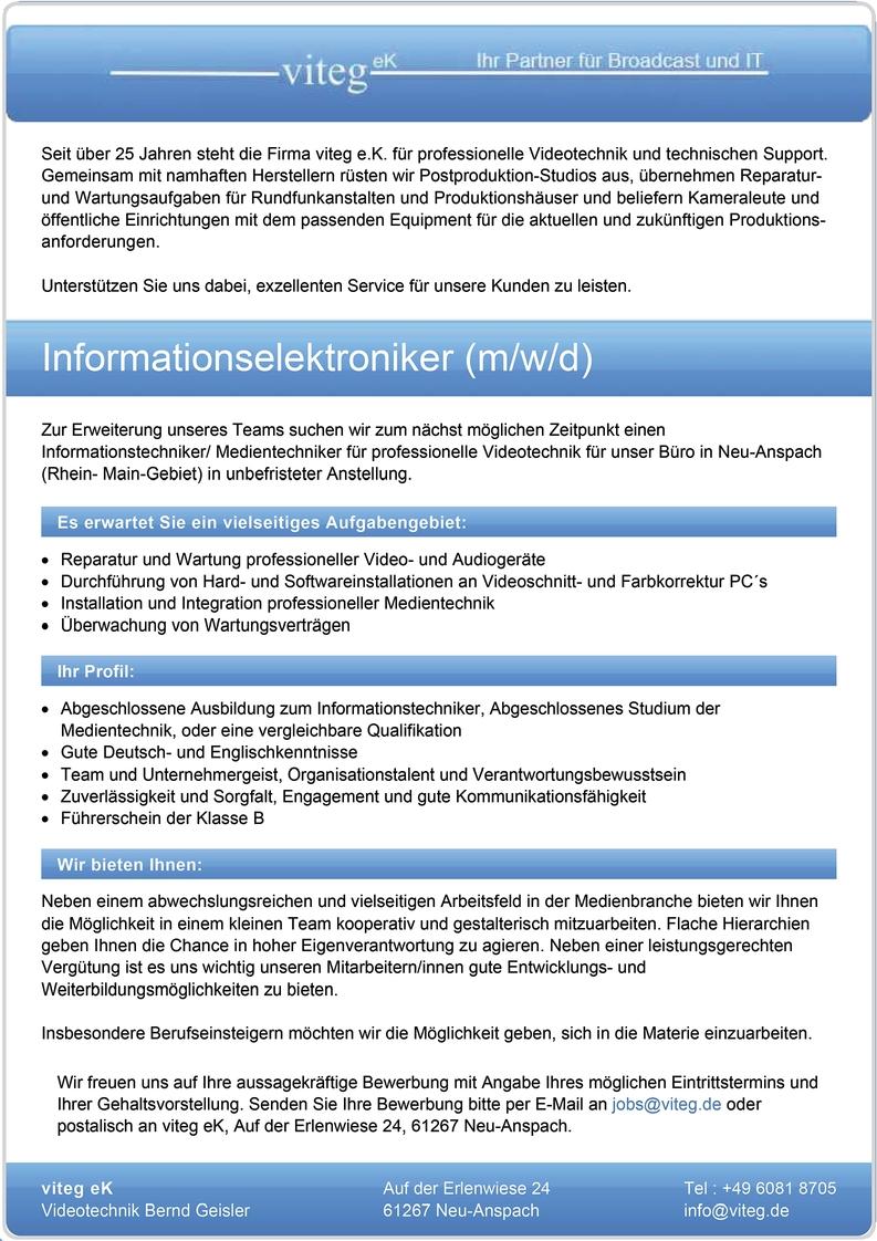 Informationselektroniker (m/w/d)