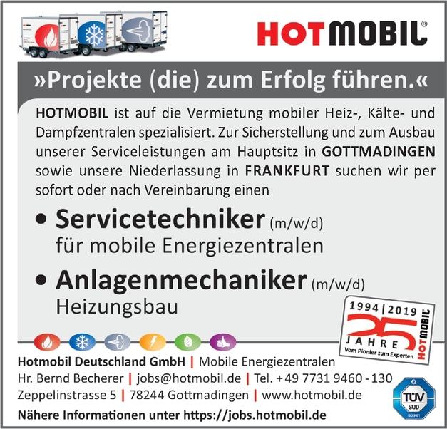 Servicetechniker (m/w/d) für mobile Energiezentralen