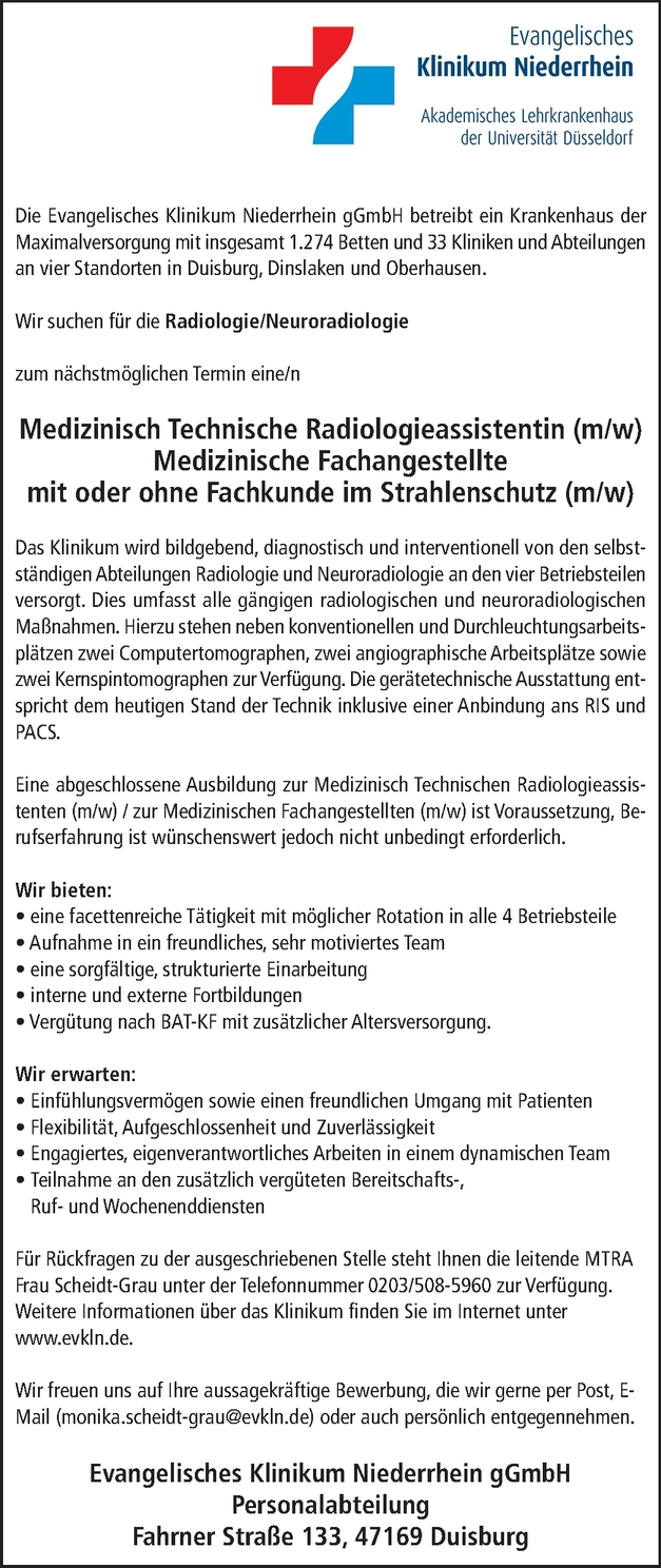 Radiologieassistent/in