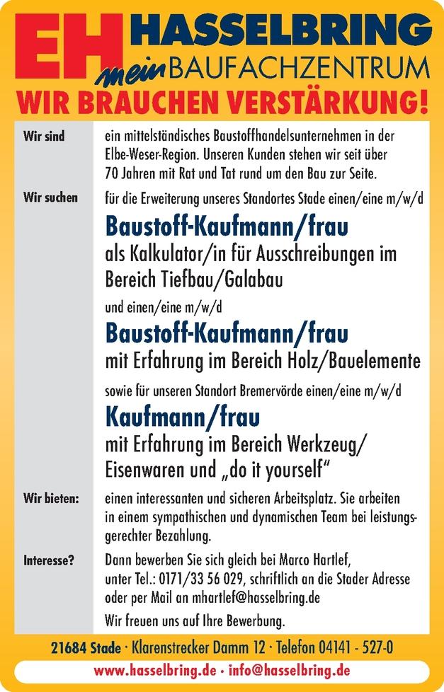 Kaufmann/-frau - Einzelhandel (Heimwerkerbed. und Werkzeuge)