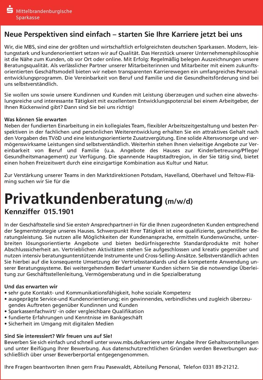 Privatkundenberater/in
