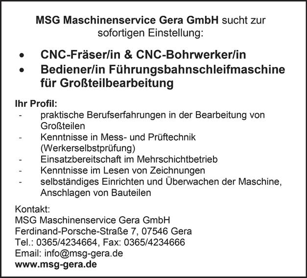 CNC-Bohrwerker/in