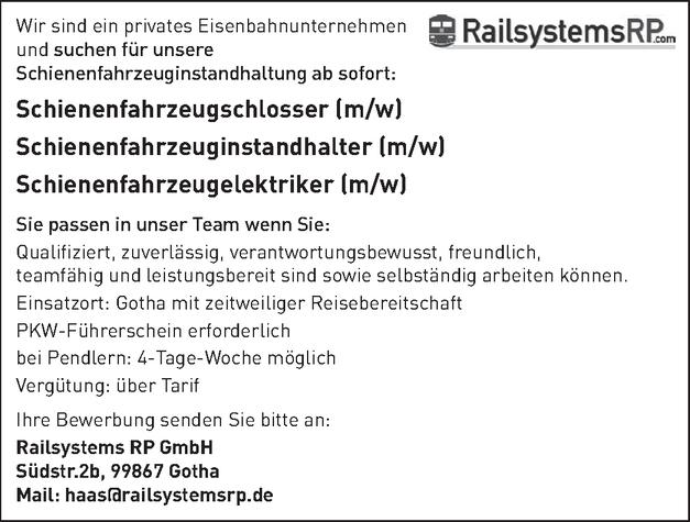 Schienenfahrzeugschlosser/in - Blechschlosserei