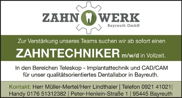 ZAHNTECHNIKER m/w/d