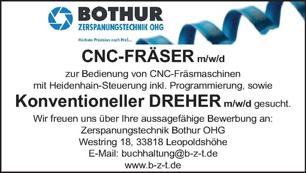 CNC-FRÄSER m/w/d