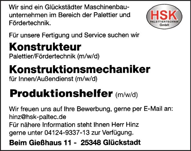 Konstruktionsmechaniker für den Innen/Außendienst (m/w/d)