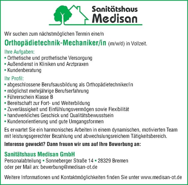 Orthopädietechnik-Mechaniker/in