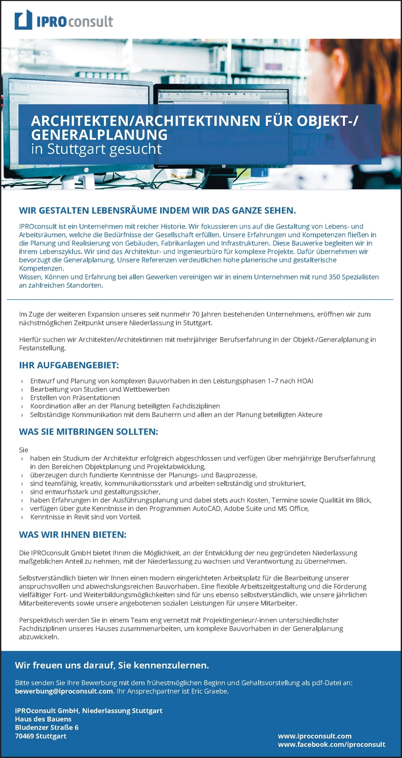 Bauingenieur/in (FS) - Hochbau