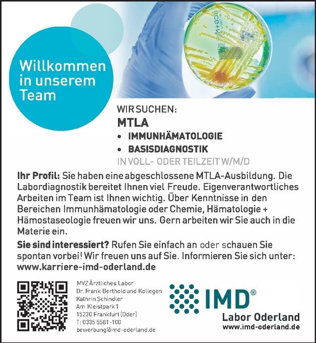 MTLA - Medizinisch technische Labordiagnostik