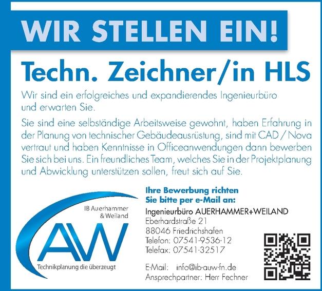 Technischer Zeichner (m/w/d) HLS