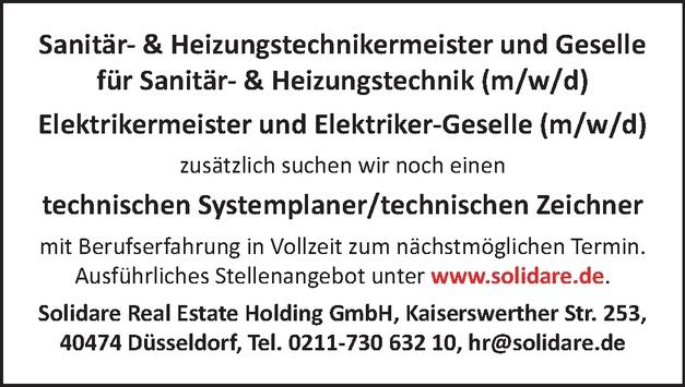 Sanitär und Heizungstechnikermeister/in