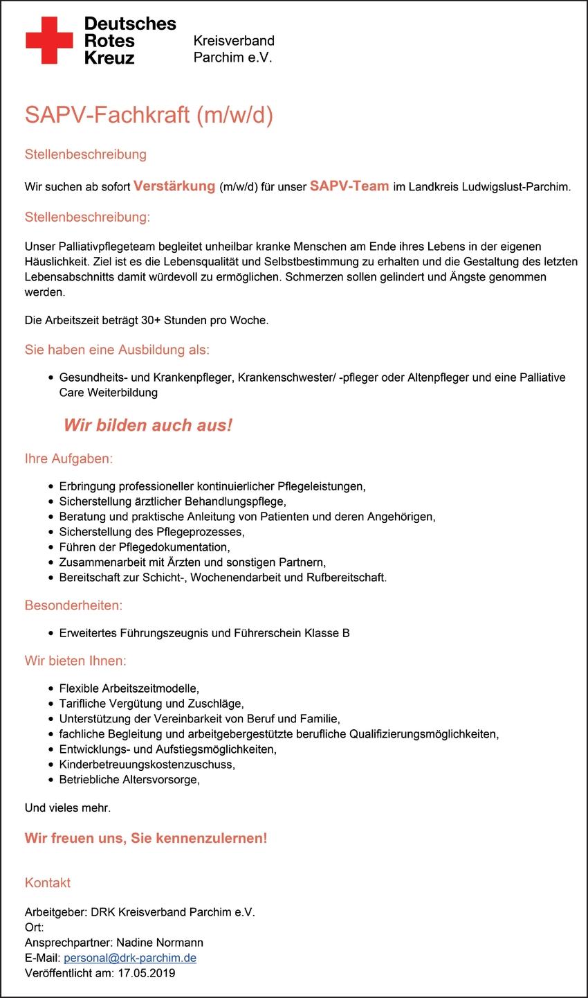 SAPV-Fachkraft (m/w/d)