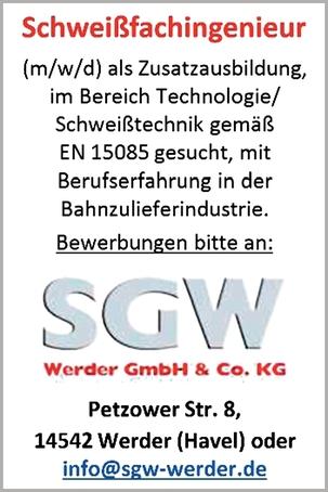 Schweißfachingenieur (m/w/d)