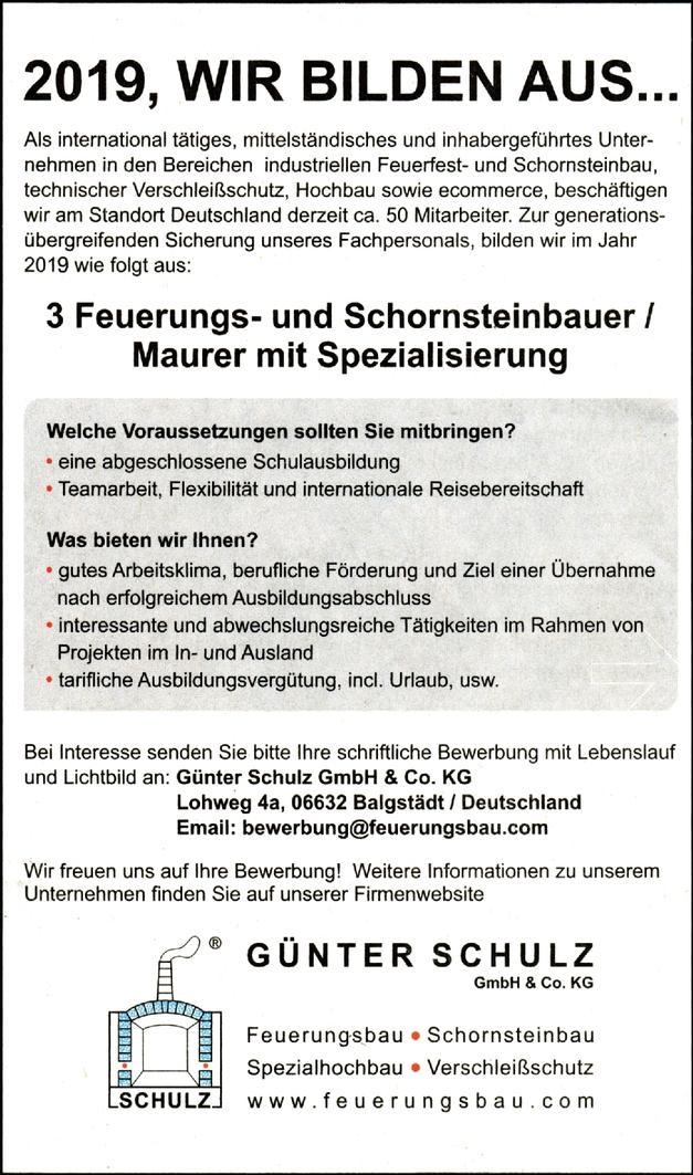 Feuerungs- und Schornsteinbauer/in