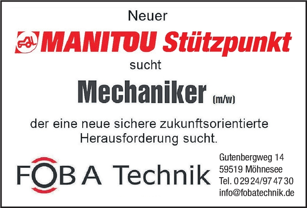 Baumaschinenmechaniker/in