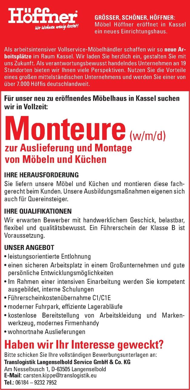 Monteure (w/m/d)