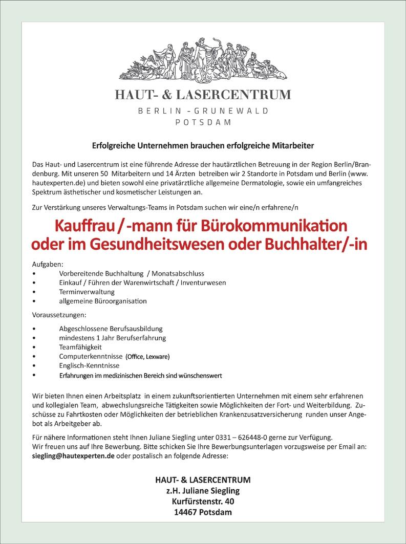 Kauffrau/-mann Bürokommunikation