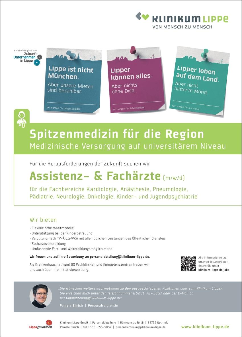 Assistenzarzt & Facharzt Pädiatrie (m/w/d)