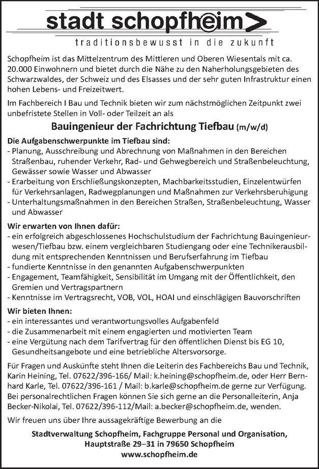 Tiefbautechniker/in