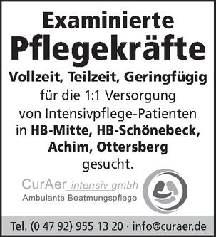 Examinierte Pflegefachkraft (m/w/d)