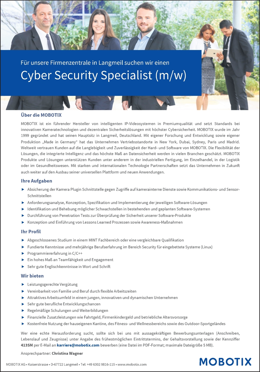 Cyber Security Specialist (m/w)