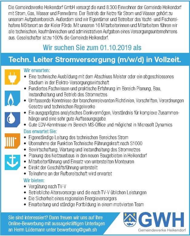 Techn. Leiter Stromversorgung (m/w/d)
