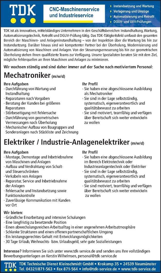 Industrieanlagenelektroniker/in