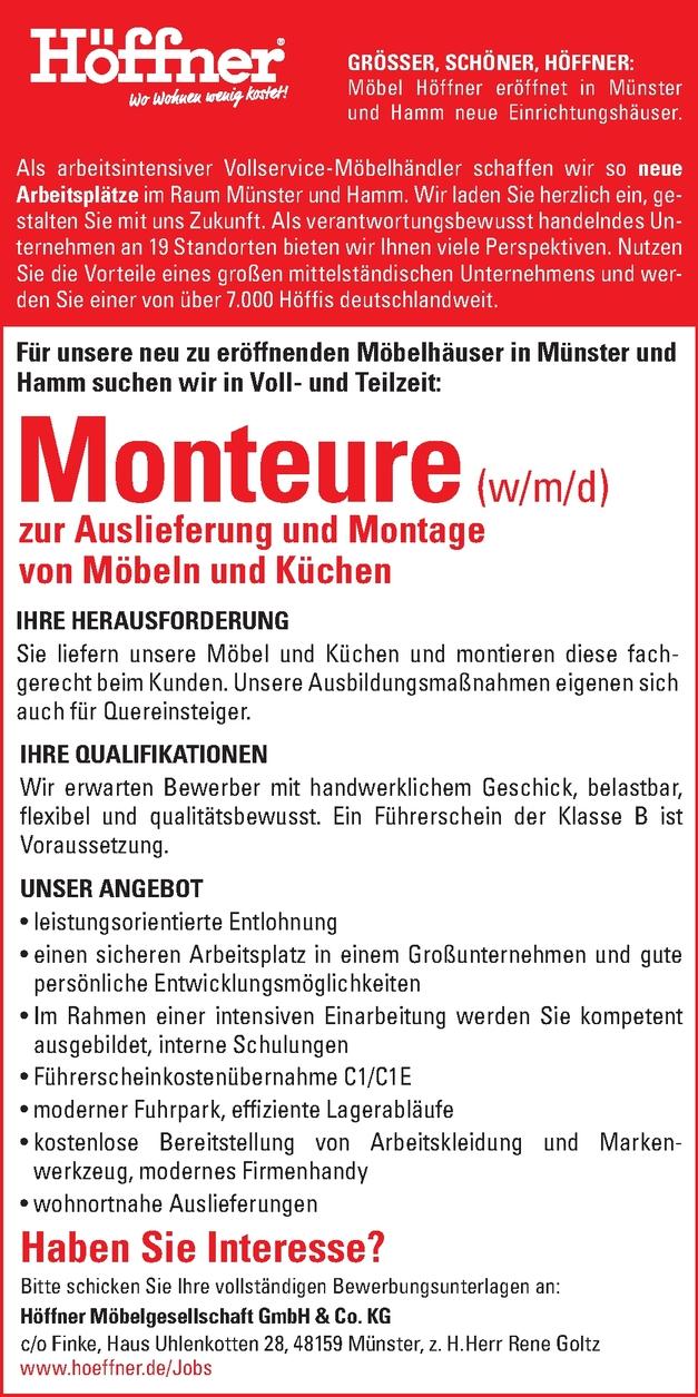 Monteur In Hamm