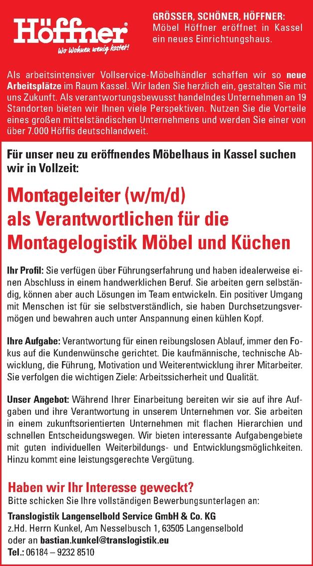 Montageleiter Wmd In Kassel