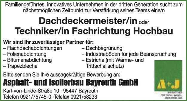 Dachdeckermeister/in