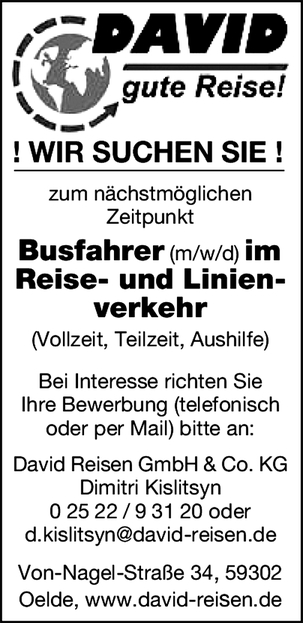 Busfahrer/in