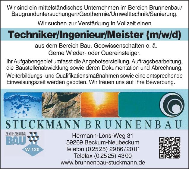 Techniker/in  Geothermie / Umwelttechnik / Sanierung