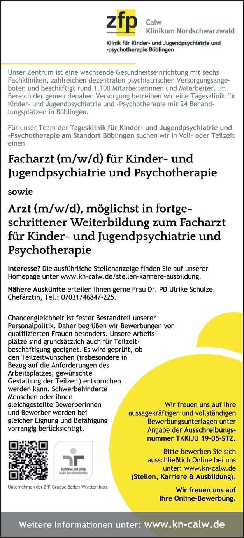 Facharzt Kinder Jugendpsychiatrie (m/w/d)