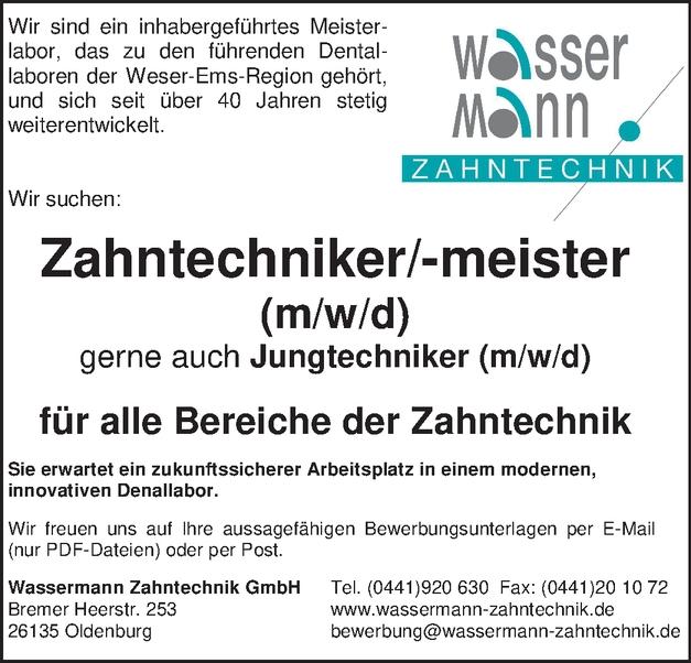 Zahntechniker/-meister (m/w/d)