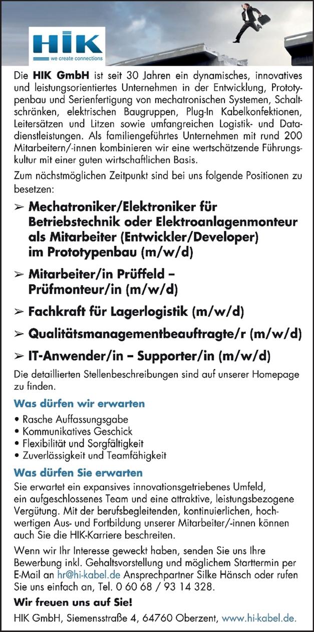 Mechatroniker/Elektroniker
