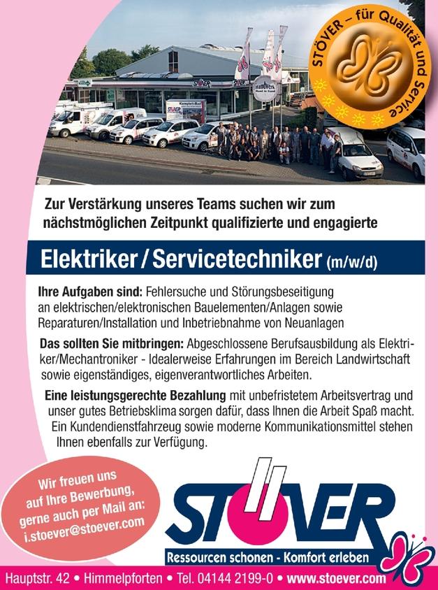 Elektriker/Servicetechniker (m/w/d)