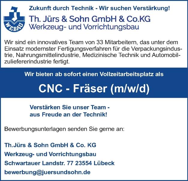 CNC – Fräser (m/w/d)