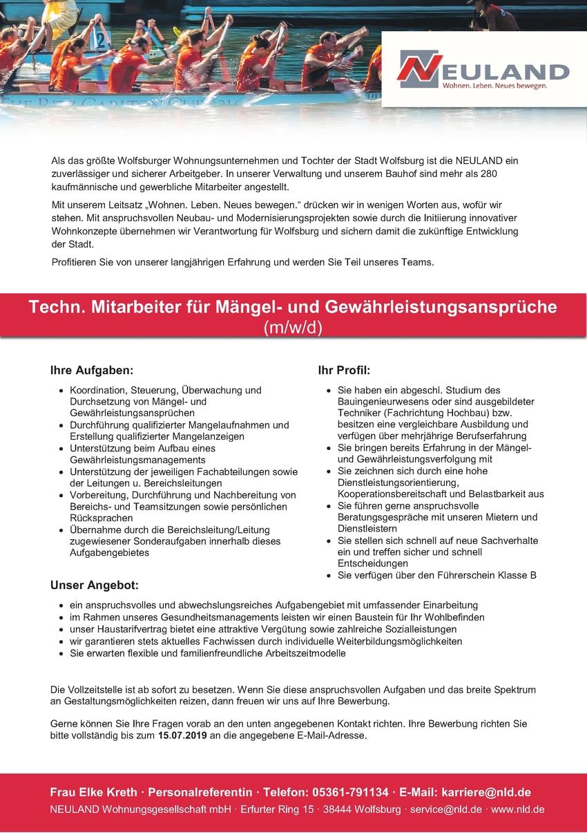 Bauingenieur/in - Hochbau