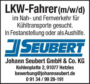 LKW-Fahrer/in im Nah- und Fernverkehr
