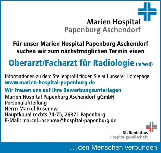 Oberarzt/Facharzt für Radiologie (m/w/d)