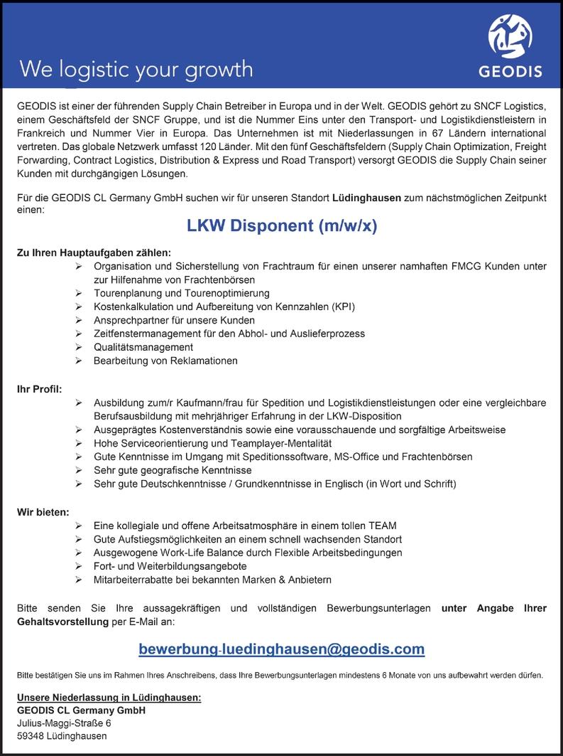 LKW Disponent (m/w/x)