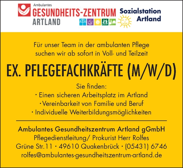 EX. Pflegefachkräfte