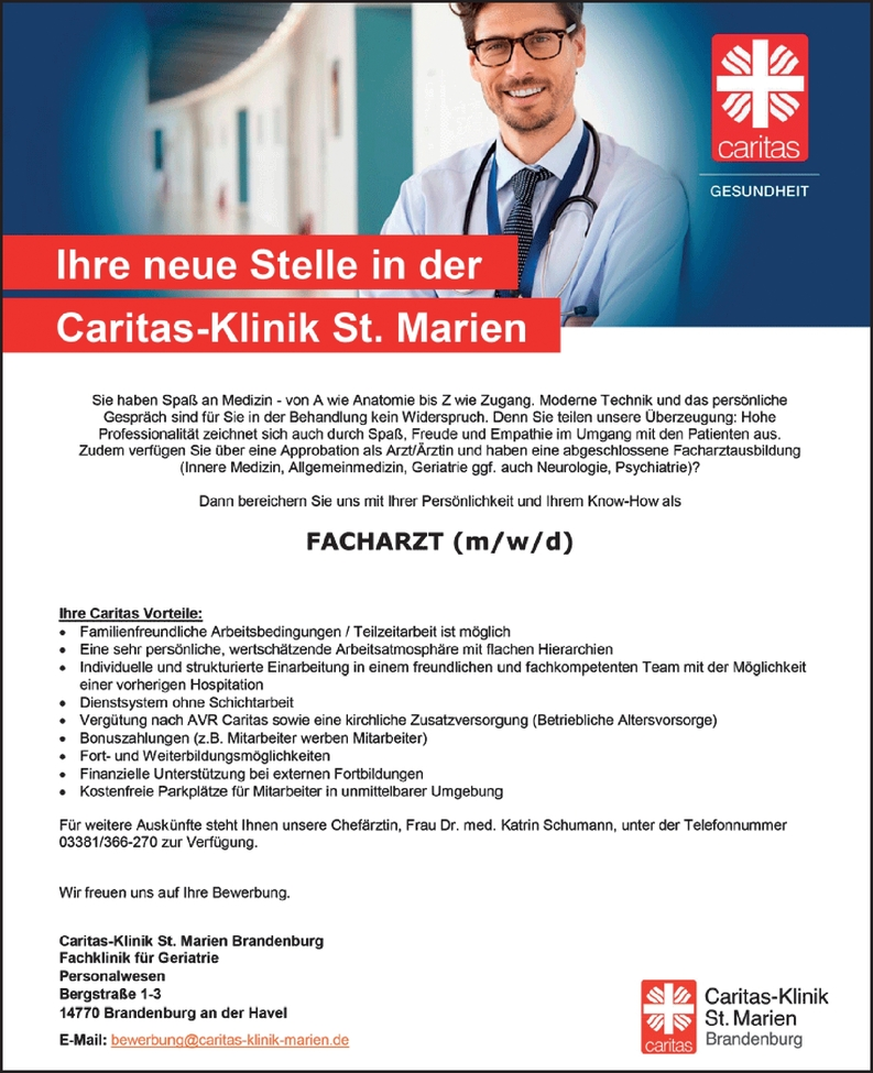Facharzt (m/w/d)