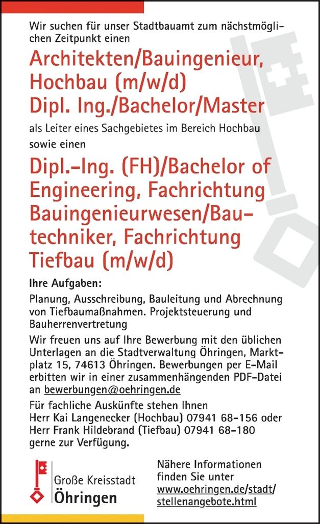 Bauingenieur Tiefbau m/w/d