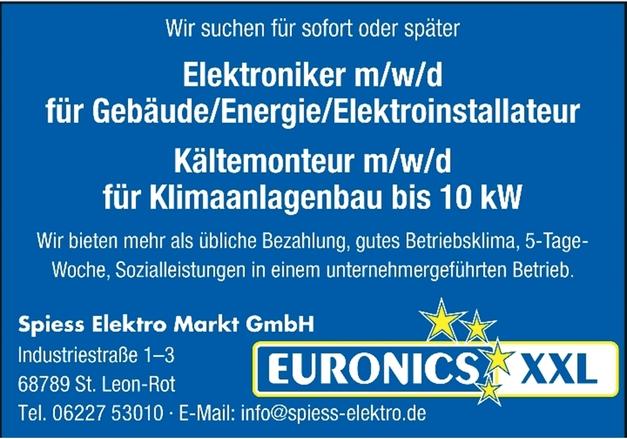 Elektroniker m/w/d