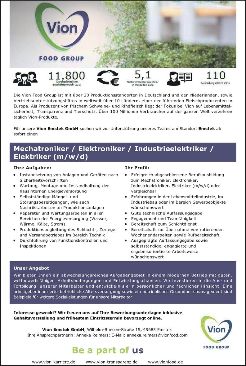 Mechatroniker (m/w/d)