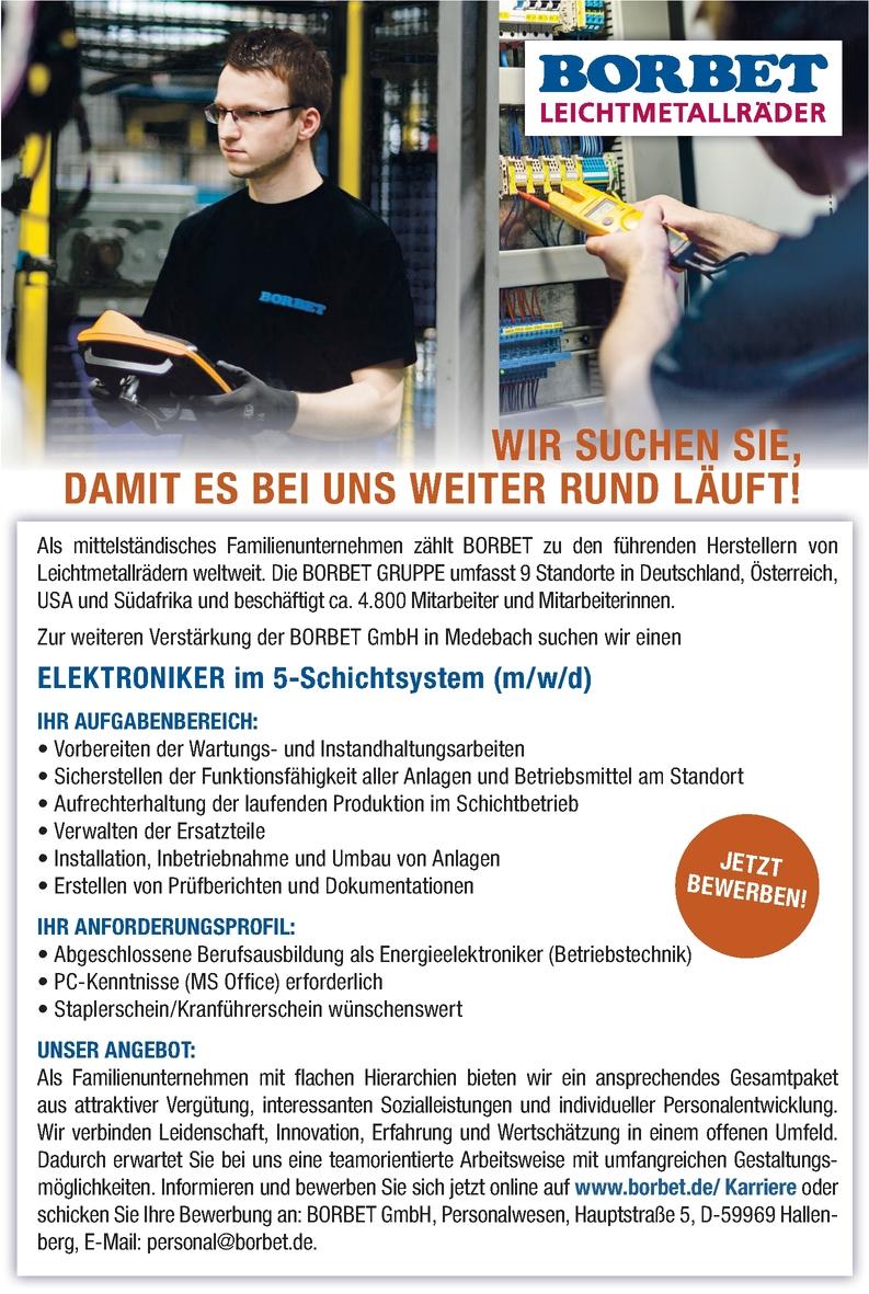 Elektroniker/in - Betriebstechnik