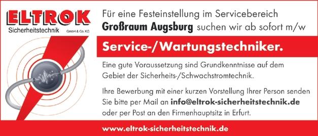Service-/Wartungstechniker m/w/d